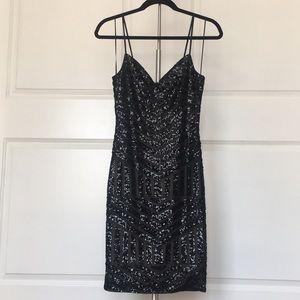 Express sequined mini dress
